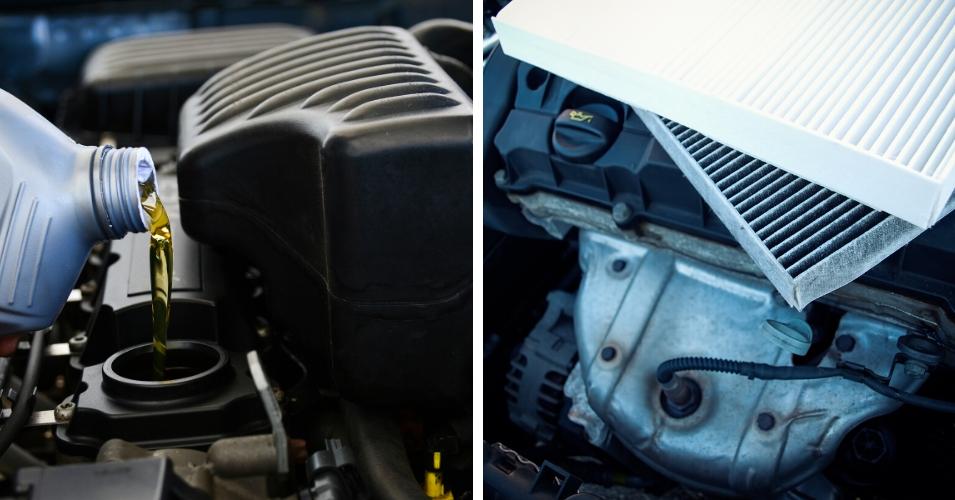 tipos de aceite de coche y filtros