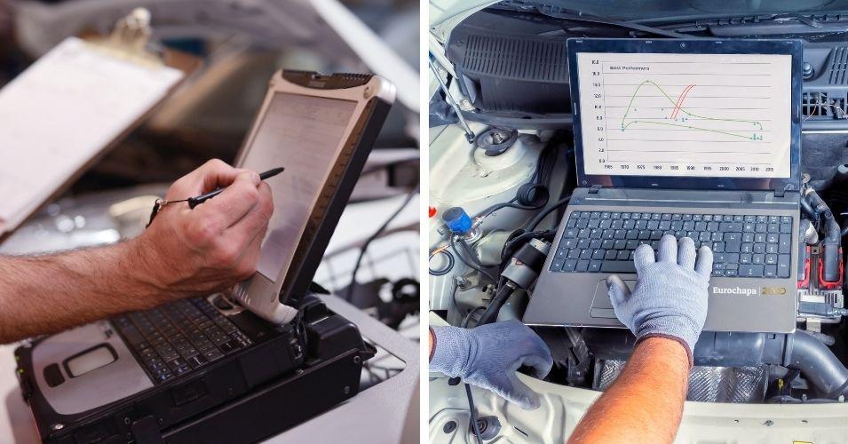funcionamiento de la prueba de diagnóstico de un vehículo